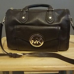 Michael Kors pebble leather satchel